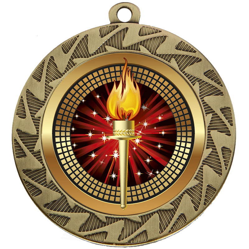 Bronze Torch Prism Medal