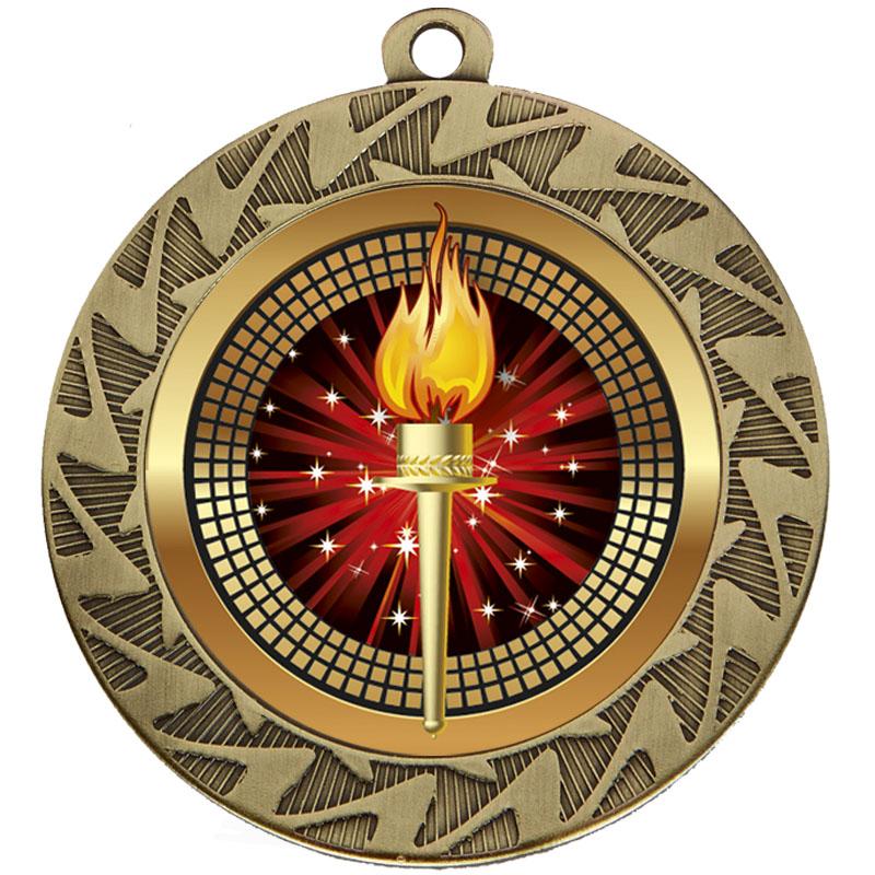 70mm Bronze Torch Prism Medal