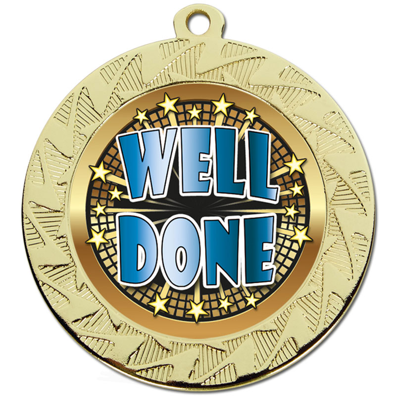 70mm Gold Well Done Prism Medal