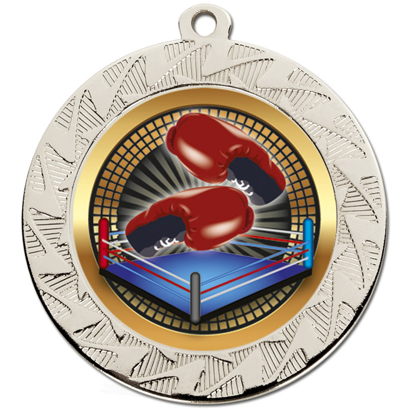 70mm Silver Boxing Prism Medal