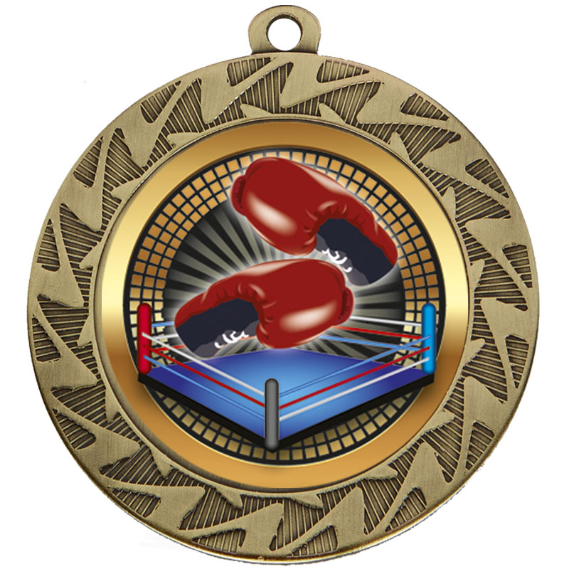 Bronze Boxing Prism Medal