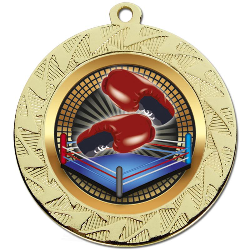 Gold Boxing Prism Medal