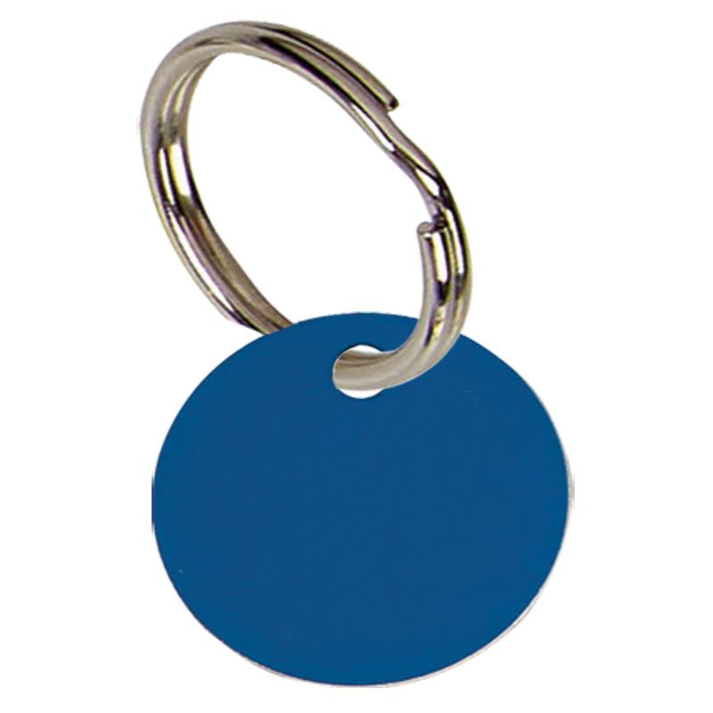 19mm Blue Disc Pets Companion Pet Tag