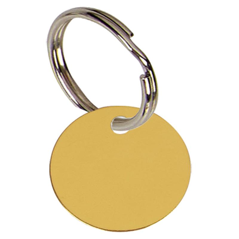 19mm Gold Disc Pets Companion Pet Tag
