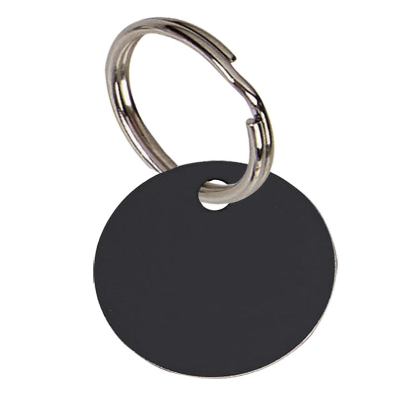 1 Inch Black Disc Pets Companion Pet Tag