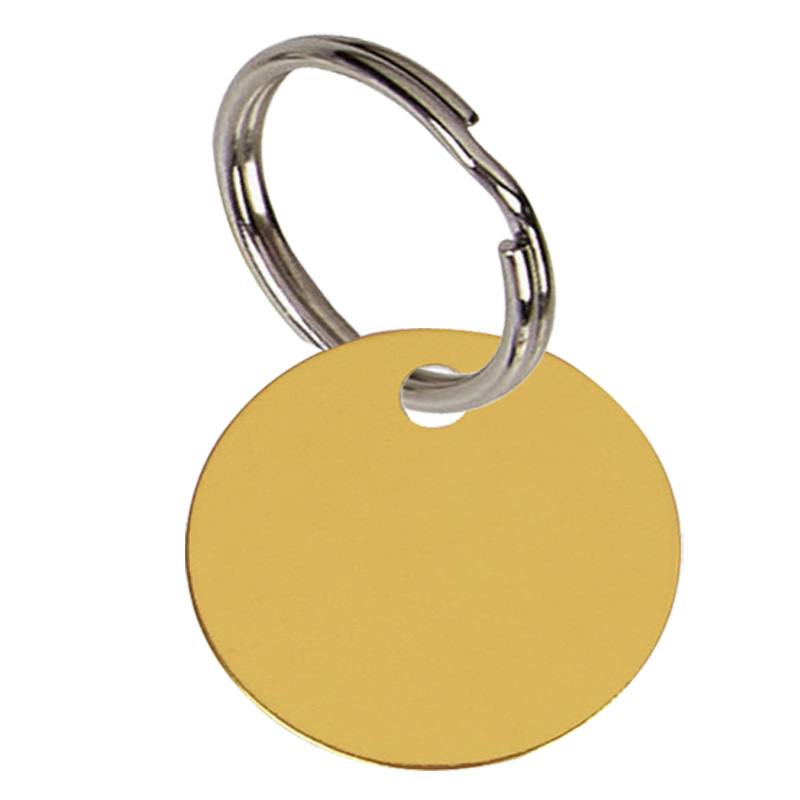 1 Inch Gold Disc Pets Companion Pet Tag