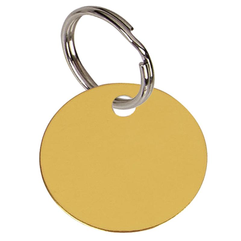 32mm Gold Disc Pets Companion Pet Tag
