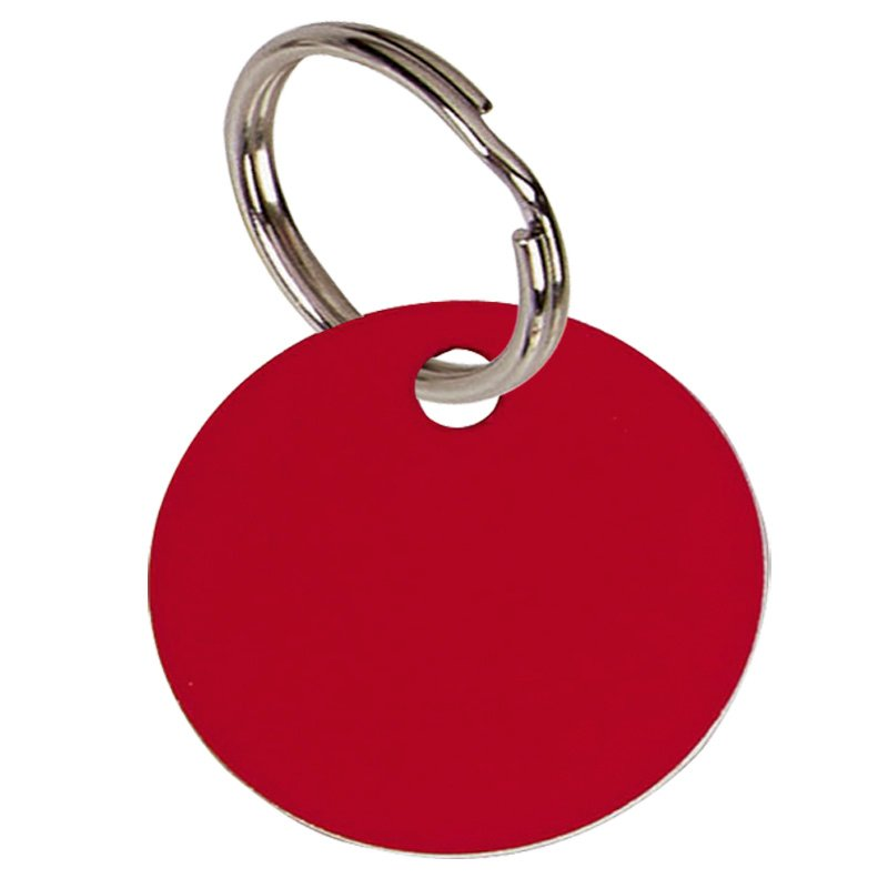 32mm Red Disc Pets Companion Pet Tag