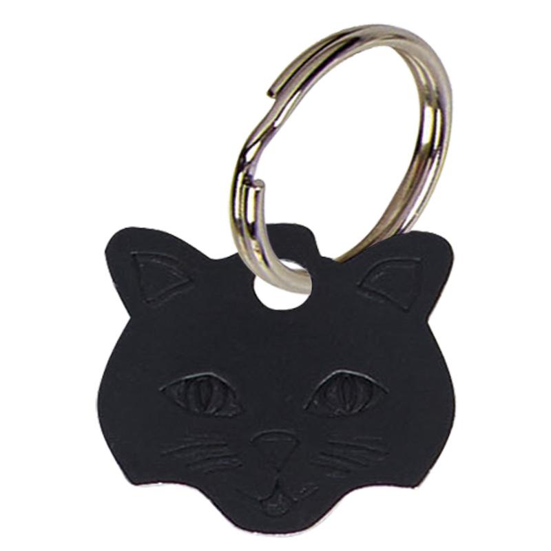 Black Cats Face Pets Companion Pet Tag
