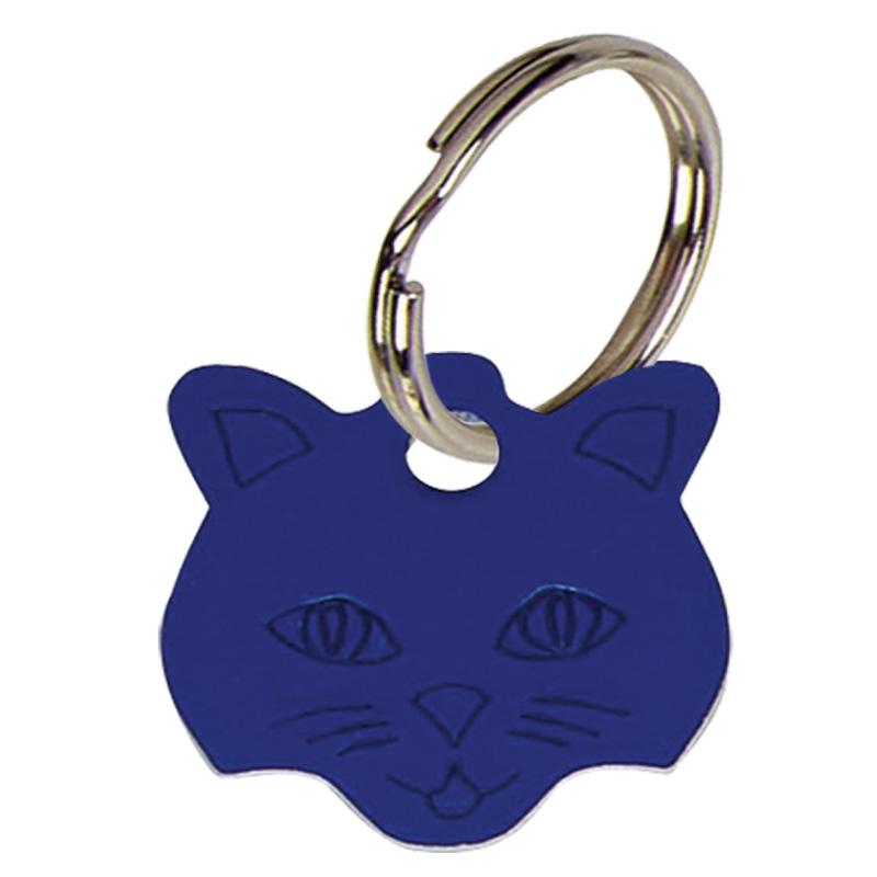 23mm Blue Cats Face Pets Companion Pet Tag