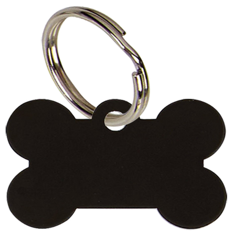 Black Dogs Bone Pets Companion Pet Tag