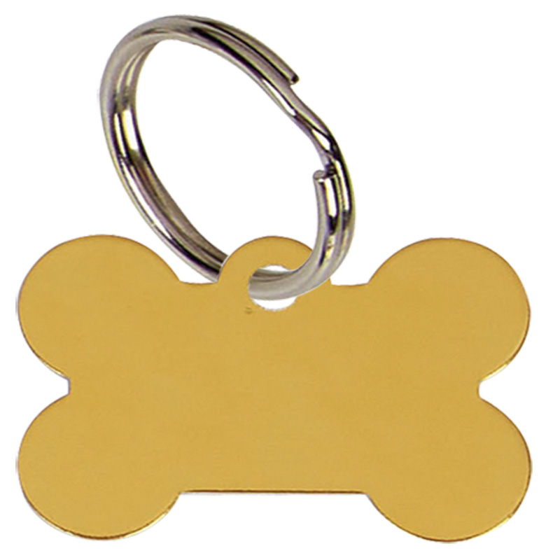 35mm Gold Dogs Bone Pets Companion Pet Tag
