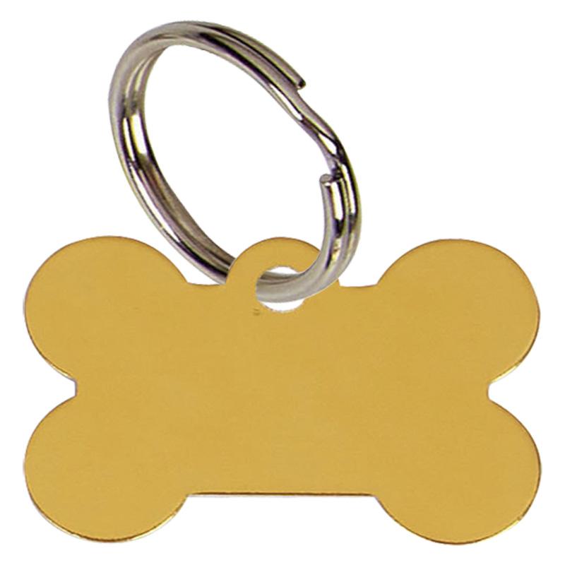 38mm Gold Dogs Bone Pets Companion Pet Tag