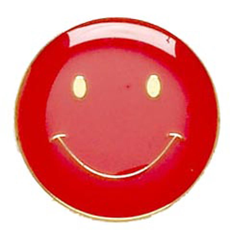 20mm Red Smiley Face Lapel Badge