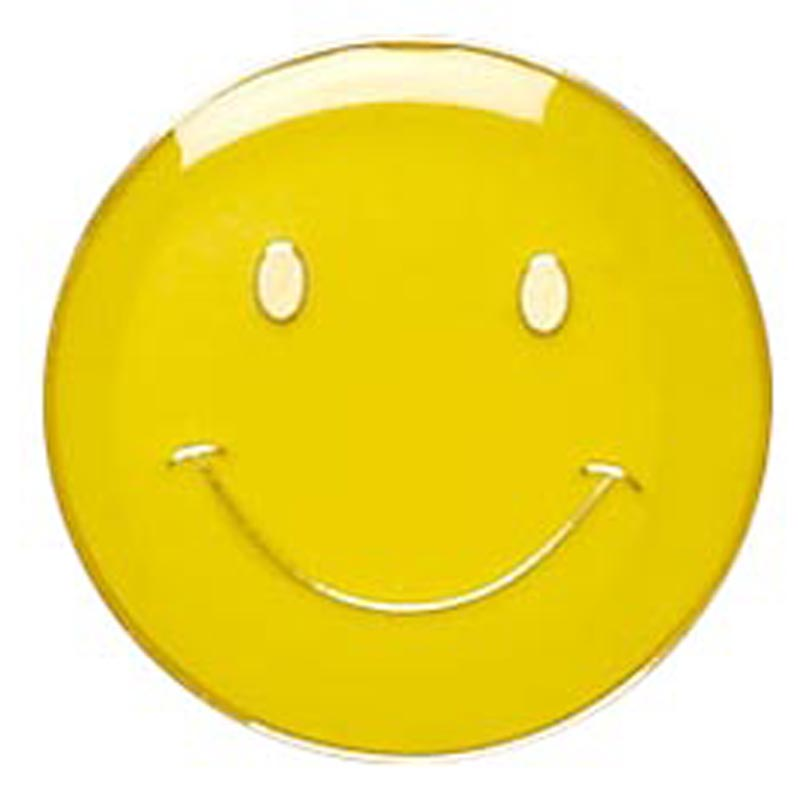 Yellow Smiley Face Lapel Badge