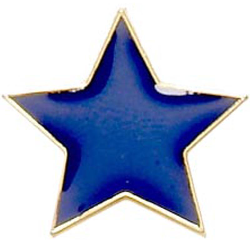 Blue Star Lapel Badge