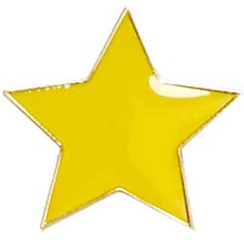 Yellow Star Lapel Badge