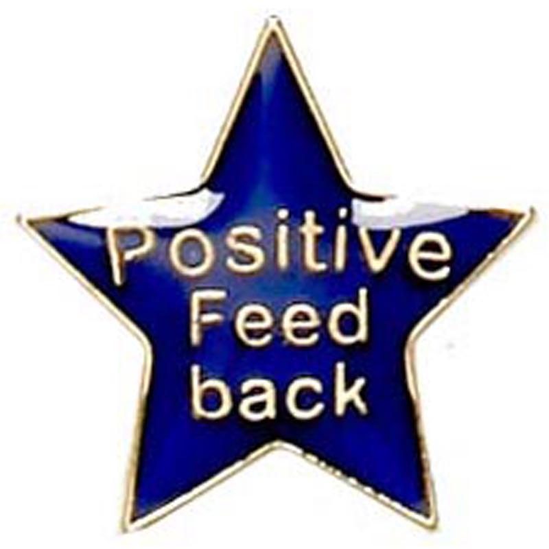 20mm Blue Star Feedback Lapel Badge
