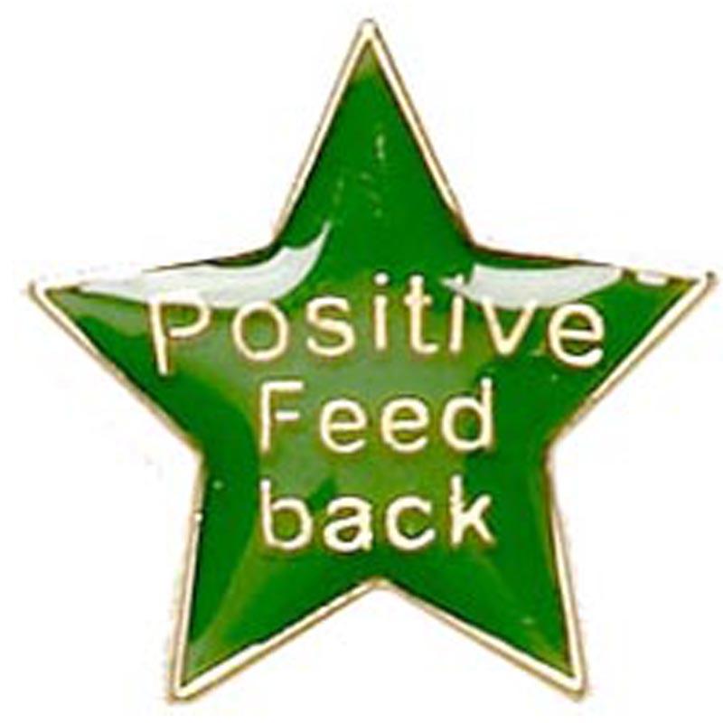 20mm Green Star Feedback Lapel Badge