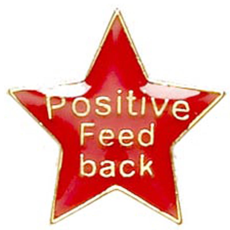 20mm Red Star Positive Feedback Lapel Badge