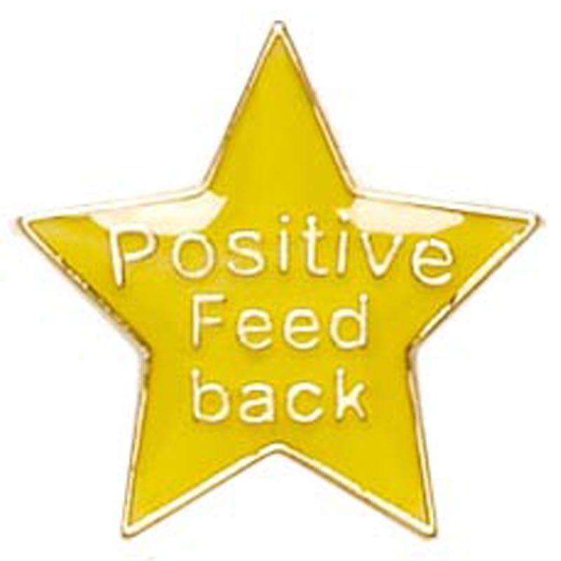 20mm Yellow Star Feedback Lapel Badge