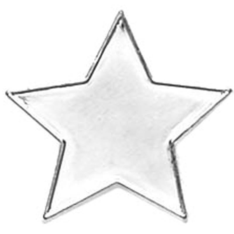 20mm Star Lapel Silver Badge