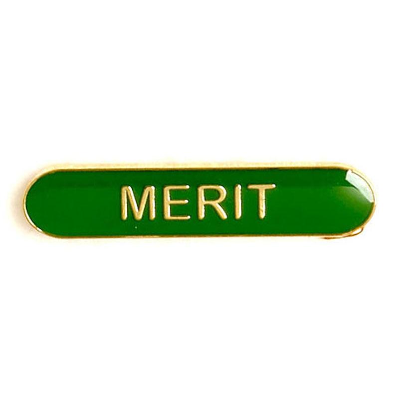 Green Merit Lapel Badge