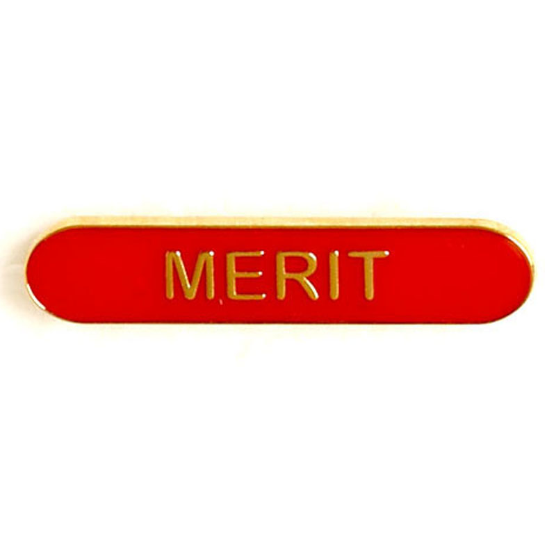 Red Merit Lapel Badge