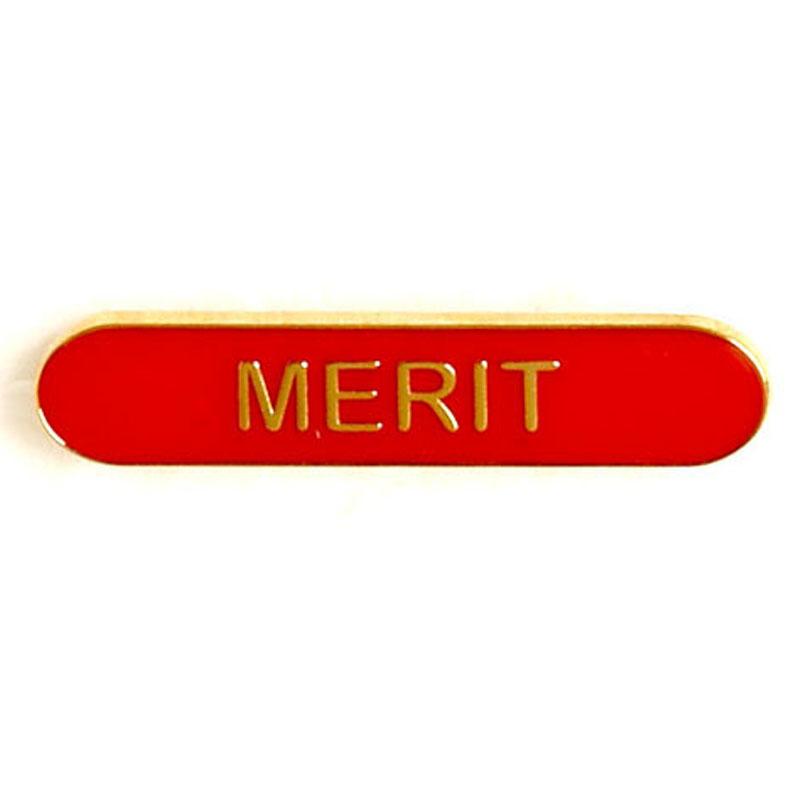 Red Merit Lapel Badge