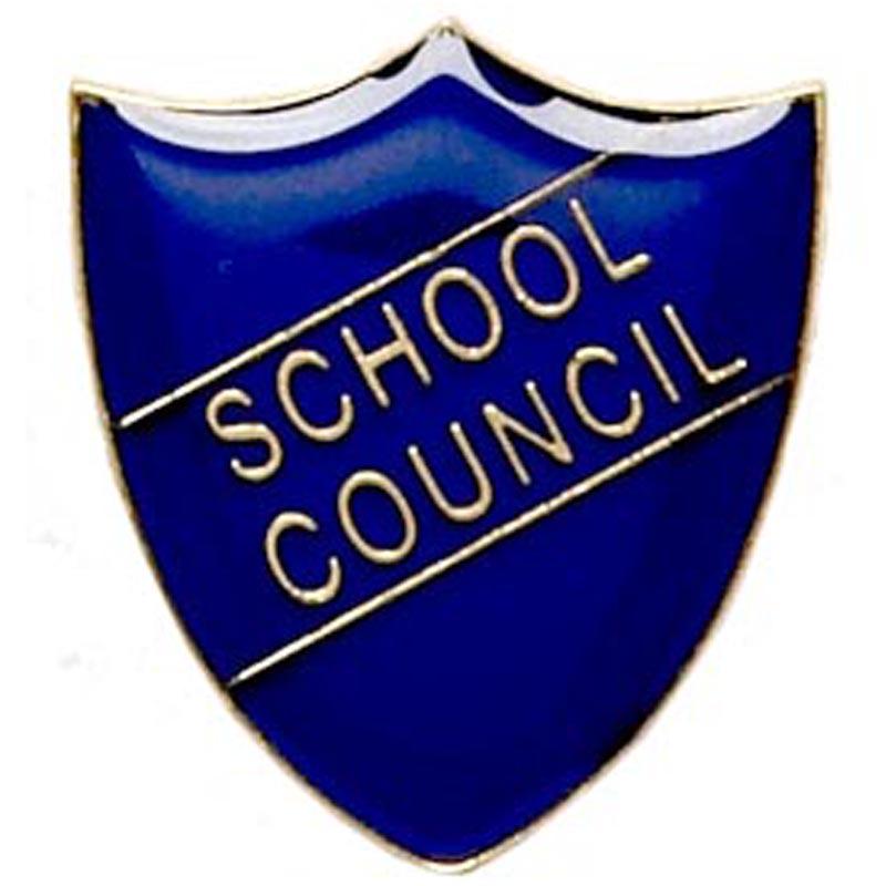 22 x 25mm Blue School Council Shield Lapel Badge
