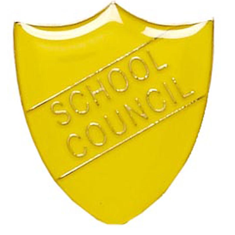 Yellow School Council Shield Lapel Badge