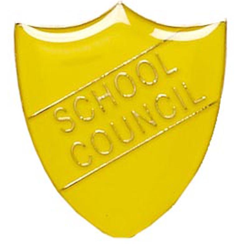 22 x 25mm Yellow School Council Shield Lapel Badge