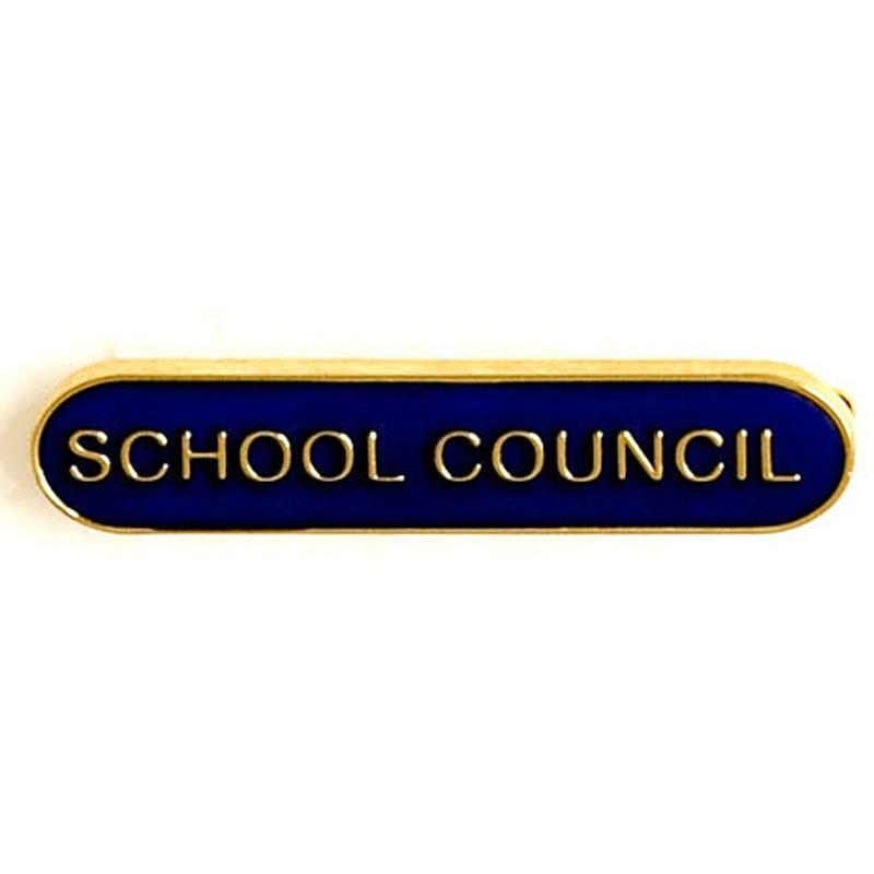 Blue School Council Lapel Badge