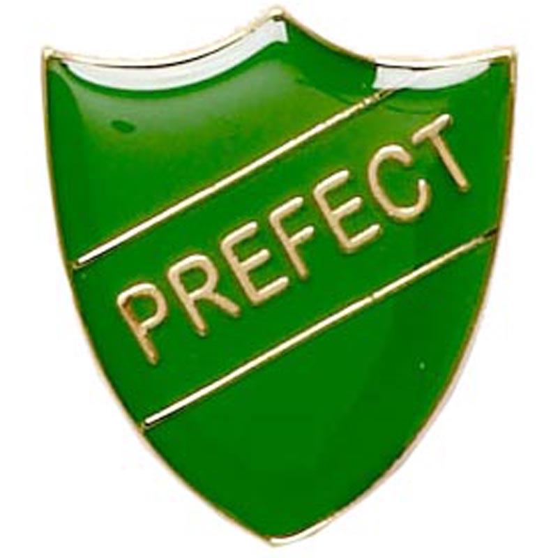 22 x 25mm Green Prefect Shield Lapel Badge