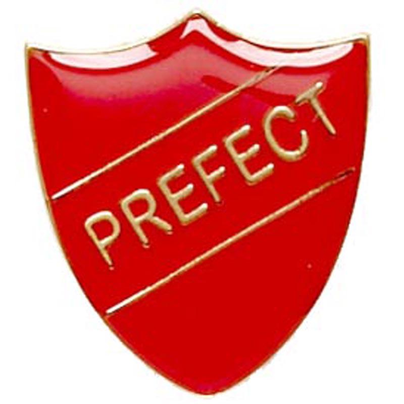 Red Prefect Shield Lapel Badge