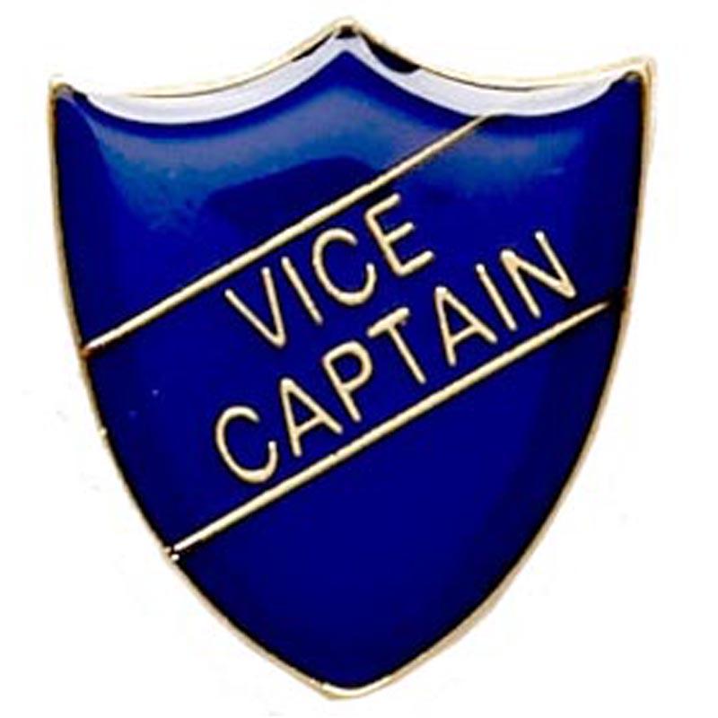 Blue Vice Captain Shield Lapel Badge