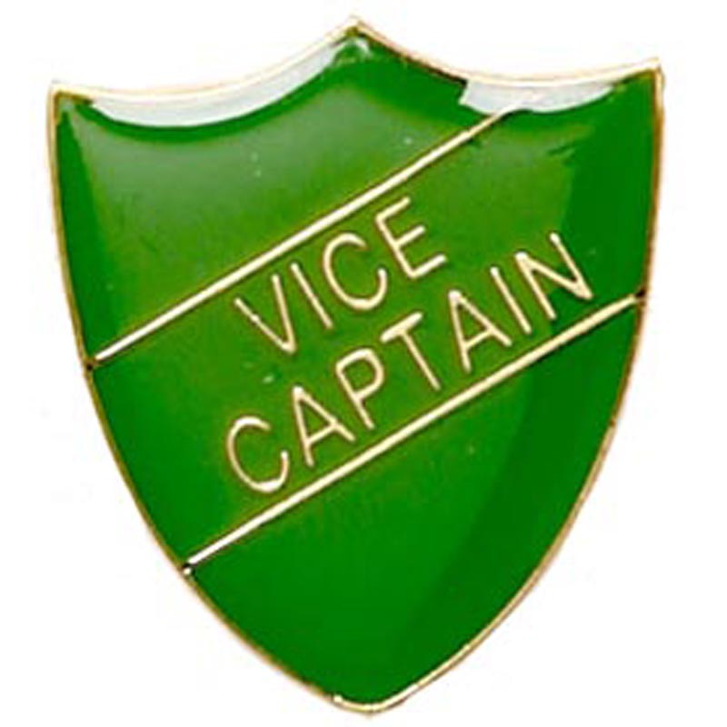 22 x 25mm Green Vice Captain Shield Lapel Badge