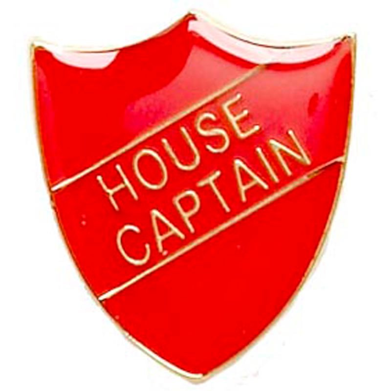 Red House Captain Shield Lapel Badge