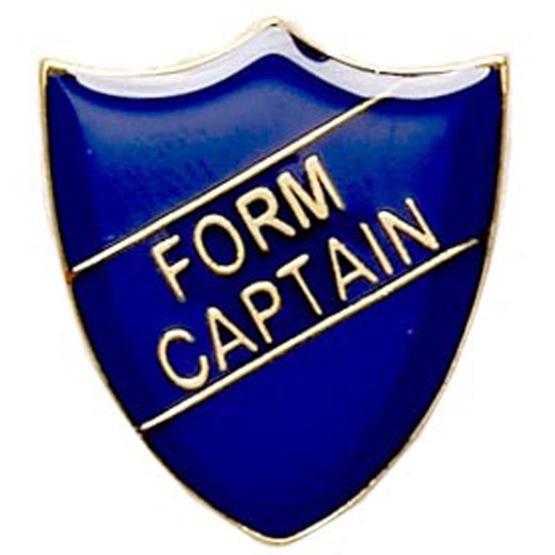 22 x 25mm Blue Form Captain Shield Lapel Badge
