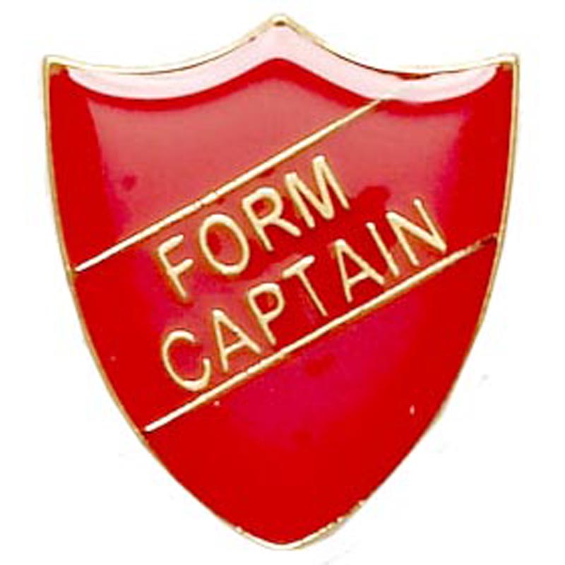 Red Form Captain Shield Lapel Badge