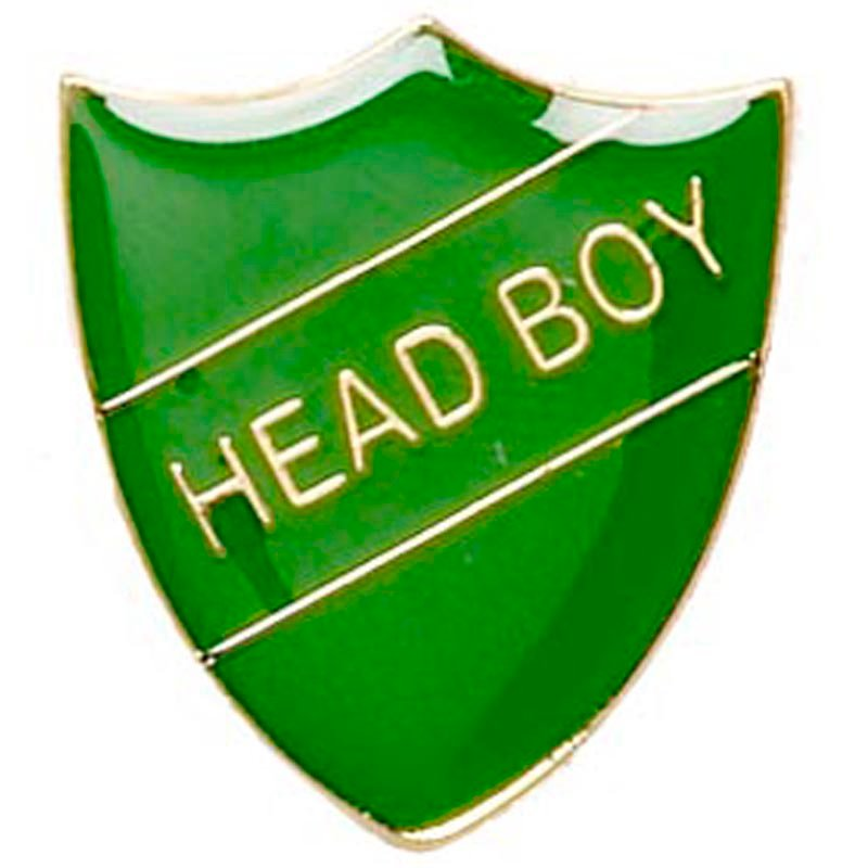 22 x 25mm Green Head Boy Shield Lapel Badge