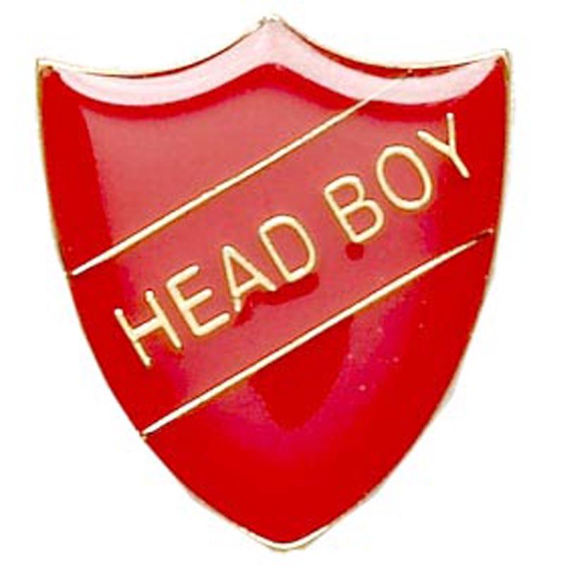 22 x 25mm Red Head Boy Shield Lapel Badge