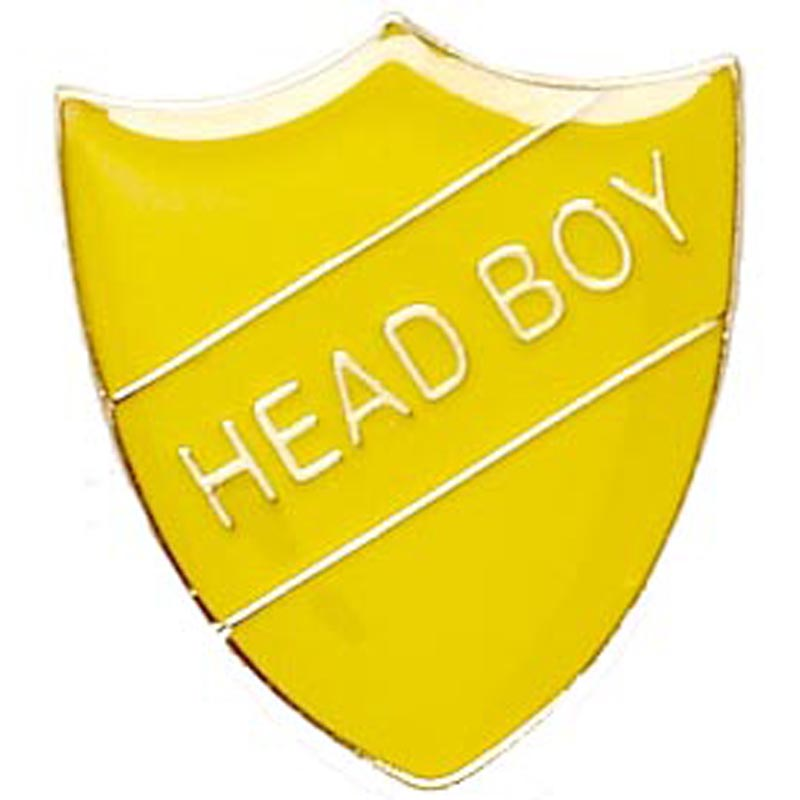 Yellow Head Boy Shield Lapel Badge
