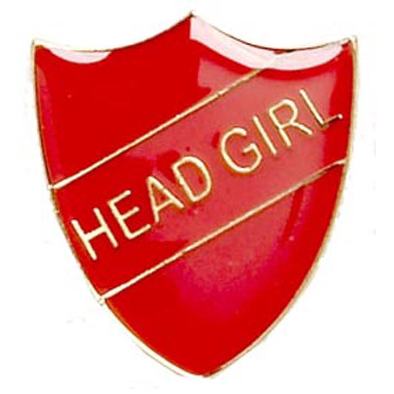 22 x 25mm Red Head Girl Shield Lapel Badge