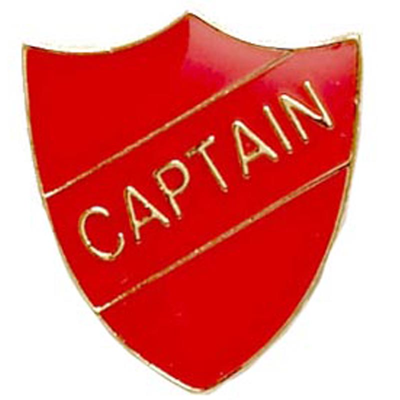 Red Captain Shield Lapel Badge
