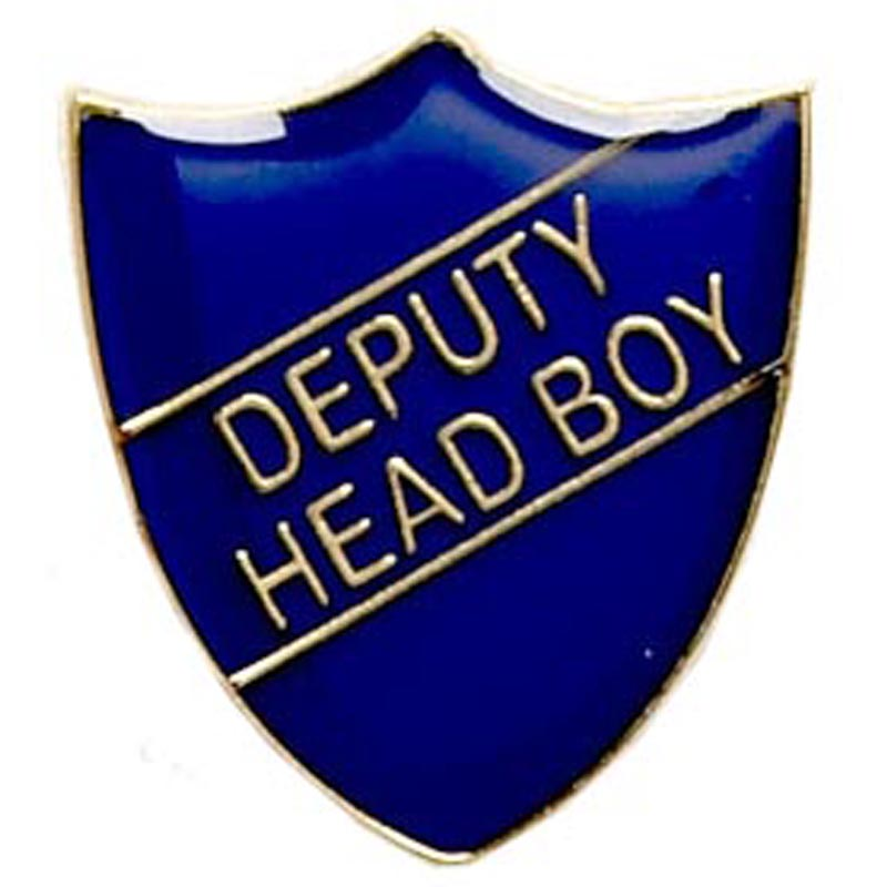 22 x 25mm Blue Deputy Head Boy Shield Lapel Badge