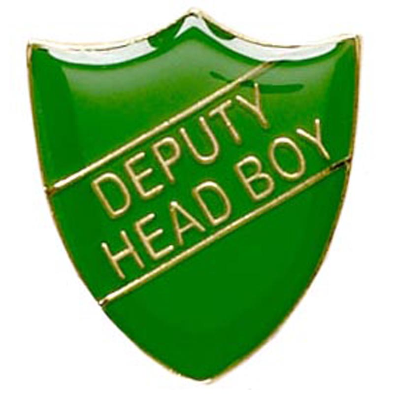 Green Deputy Head Boy Shield Lapel Badge