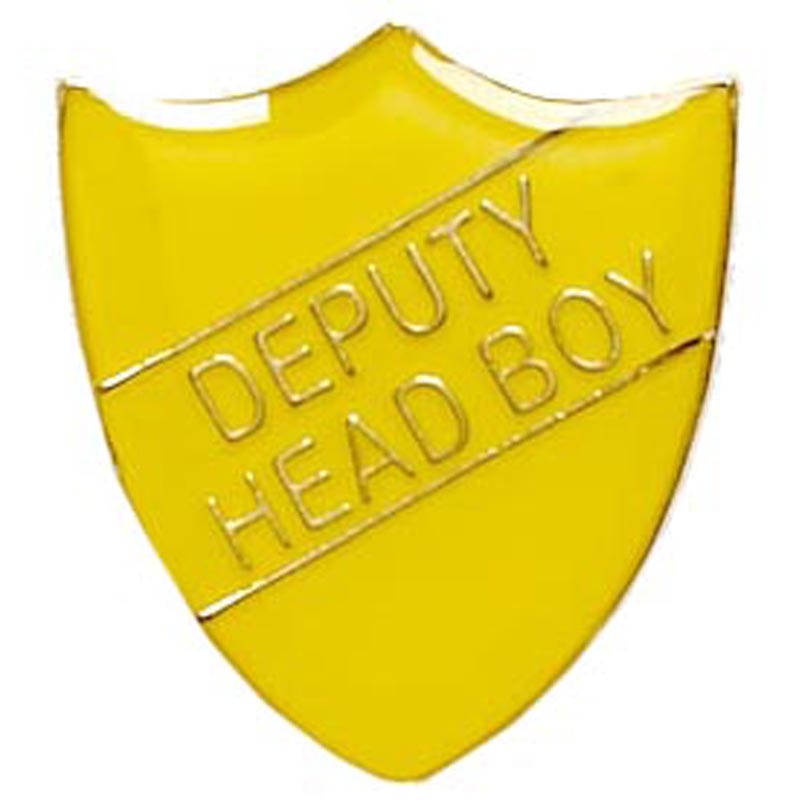 Yellow Deputy Head Boy Shield Lapel Badge