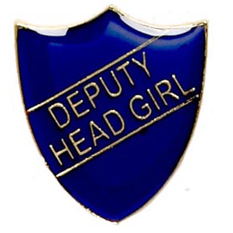 Blue Deputy Head Girl Shield Lapel Badge