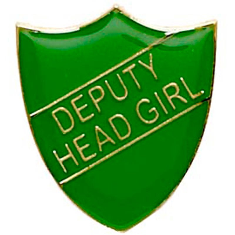 Green Deputy Head Girl Shield Lapel Badge
